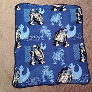 StarWars Kid-Sized Throw Blanket R2-D2